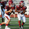 Globe/Roger Nomer<br /> Joplin's Gabe Sachetta and Chris Payton-Barba run a play before Friday's jamboree.