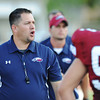 Globe/Roger Nomer<br /> Joplin High head coach Chris Shields gives directions to his team.