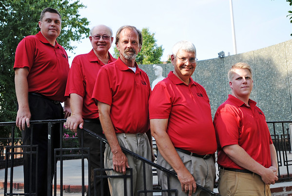 Globe/T. Rob Brown<br /> The Joplin Globe sports staff.