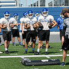 Carthage players run through drills during practice on Friday at the new David Haffner Stadium.<br /> Globe | Laurie Sisk