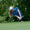 Globe/Roger Nomer<br /> Carthage's Sara Golden, sophomore, hit onto the green on Monday at Briarbrook Golf Course.