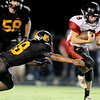 Globe/Laurie Sisk<br /> Lamar's Trevor Medlin tries to get past Cassville's Jose Melchor during Friday's game in Cassville.