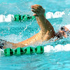 Joplin's Tanner Movick competes in the 200 yard freestyle during the JAC Invite on Thursday afternoon at Schifferdecker Pool.<br /> Globe | Laurie Sisk