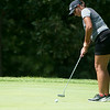 Globe/Roger Nomer <br /> Carl Junction's Kylie Carnes, senior, putts on Monday at Briarbrook Golf Course.