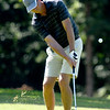 Greg Crawford hits a chip shot onto the no. 2 green at Briarbrook on Saturday during the Joplin Area champioships.<br /> Globe | Laurie Sisk