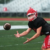Carl Junction's Colton Kennedy practices on Wednesday.<br /> Globe | Roger Nomer
