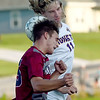 Joplin's Logan Irvin (25) and Monett's Wayne Verhoff (11) battle for a header during their match on Tuesday night at JHS.<br /> Globe | Laurie Sisk
