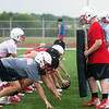 Webb City football players practice on Tuesday morning.<br /> Globe | Roger Nomer