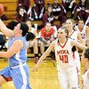 Globe/B.W.Shepherd<br /> Webb City's Kaitlin Beason breaks away from the Nixa defense to score two points at Missouri Southern State University on Friday, December 7, 2012.