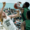 Missouri Southern's Cam Martin (31) reacts after getting foulded by Northeastern State's Josh Ihek (3) during their game on Saturday at Leggett & Platt.<br /> Globe | Laurie Sisk