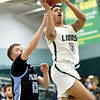Missouri Southern's Reggie Tharp (0) gets past Upper Iowa's Quentin Blaue (13) for a score during their game on Wednesday afternoon at Leggett & Platt.<br /> Globe | Laurie Sisk