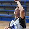 McAuley senior Jake Doyle warms up before practice on Wednesday at McAuley.<br /> Globe | Laurie Sisk