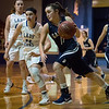 Galena's Madyson Cox drives against Riverton's Neali Weaver during Tuesday's game in Riverton.<br /> Globe | Roger Nomer