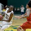 Missouri Southern's Elyjah Clark (15) looks to get past Pittsburg State's Donovan Franklin (3) during their game on Tuesday night at Leggett & Platt.<br /> Globe | Laurie SIsk