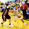 Globe/T. Rob Brown<br /> Thomas Jefferson's Alex Oserowsky drives the ball around Southwest's Tyler Ferguson Monday night, Jan. 9, 2012, at Thomas Jefferson's gymansium.