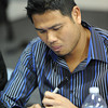 Globe/T. Rob Brown<br /> Royals pitcher Bruce Chen signs a ball for a fan during the Royals Caravan visit Monday afternoon, Jan. 21, 2013, in Vintage Stock at Northpark Mall.