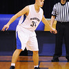 Globe/T. Rob Brown<br /> Riverton's Jacob Qualls plays defense against Galena during Tuesday night's game, Jan. 8, 2013, at Riverton's gymnasium.