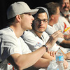 Cardinals pitchers Shelby Miller, left and Joe Kelly, chat during the Cardinalds Caravan on Saturday at MSSU.<br /> Globe | Laurie Sisk