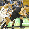 Neosho's Kaden Roy (10) races Webster Grove players Sam Craig (32) and Kevin Butler (25) to a loose ball in the first round of the 2014 Kaminsky Classic on Thursday afternoon at Robert Ellis Young Gymnasium.<br /> Globe | Laurie Sisk