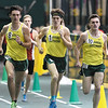 From the left: Missouri Southern milers Josh Webb, Nathan Painter and Cody Berry lead the pack  during the Southern Invite on Saturday at Leggett & Platt. Webb finished first, followed by Berry and Painter.<br /> Globe | Laurie Sisk