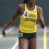 Missouri Southern's Jasmine Deckard clims first in the Women's 60m Dash during the Southern Invite on Saturday at Leggett & Platt.<br /> Globe | Laurie Sisk