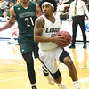 Missouri Southern's CJ Carr (0) gets past Northwest Missouri's Xavier Kurth (21) during their game on Thursday night at MSSU.<br /> Globe | Laurie Sisk