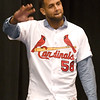 St Louis Cardinals first baseman José Martinez greets fans during the Cardinals Caravan on Saturday at Missouri Southern.<br /> Globe | Laurie Sisk