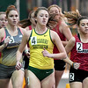 Missouri Southern's Maddy Gepford (4) paces the field in the Women's Mile during the Southern Invite on Saturday at Leggett & Platt. Gepford placed second in the event.<br /> Globe | Laurie Sisk