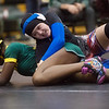 Seneca's Kristen Brugel wrestles Parkview's Meghanne Lavilette during Monday's girls wrestling tournament in Diamond.<br /> Globe | Roger Nomer