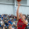 Baxter's Tucker Graves (34) drives the baseline as he goes for two points during the game against Riverton on Friday night at Riverton High School.