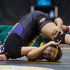 Monett's Janeth Quinones wrestles Parkview's Zari Black during Monday's girls wrestling tournament in Diamond.<br /> Globe | Roger Nomer