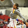 Pittsburg State senior Grant Lozoya warms up before the start of the Gorillas game against Southwest Baptist last week at John Lance Arena.<br /> Globe | Laurie Sisk
