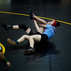 Cassville's Kelsey Harris wrestles Webb City's Lauren Weaver during Monday's girls wrestling tournament in Diamond.<br /> Globe | Roger Nomer