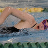 Thomas Jefferson's Beth Patterson competes in the 200m Medley Relay during the Joplin Invitational on Thursday at Missouri Southern.<br /> Globe | Laurie Sisk