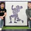 From the left: Joey Semerad and Karter Brink are the top two in career wins in a storied program at Monett. Brink wrestles this year in the 132 lb. class, while Semerad competes at 138 lbs.<br /> Globe | Laurie Sisk