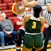 Pittsburg State's Maya Williams (1) draws a foul on Missouri Southern's Kaiulani Jones (3) during their game on Saturday at PSU.<br /> Globe | Laurie SIsk