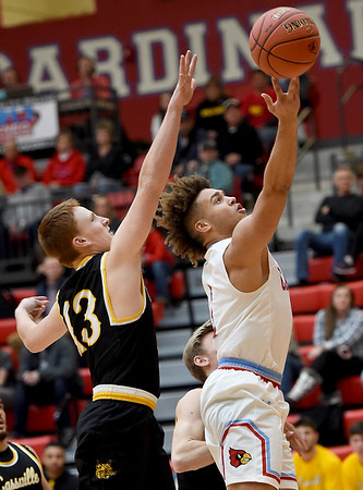 Webb City's Terrell Kabala (1) gets past Cassville's Jacob Thomas (13) for a score during their game on Friday night at the Cardinal Dome.<br /> Globe | Laurie Sisk
