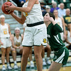 Missouri Southern's Layne Skiles (5) gets past Northeastern State's Cenia Hayes during their game on Wednesday night at Leggett & Platt.<br /> Globe | Laurie Sisk