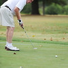 Globe/T. Rob Brown<br /> Bruce Gillespie, of Louisburg, Kan., putts Friday afternoon, July 27, 2012, during the Twin Hills Invitational at Twin Hills County Club.
