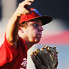 Globe/T. Rob Brown<br /> Webb City (5) pitches against the Joplin Miners Friday evening, July 20, 2012, during American Legion baseball championship tournament in Webb City.