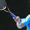Globe/T. Rob Brown<br /> Dane Webb of Texas hits the ball with intensity as he upsets opponent No. 5-ranked Gonzalo Lama Wednesday morning, July 18, 2012, during the USTA Freeman $10,000 Men's Futures tennis tournament at Millenium Tennis and Fitness Club.