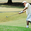 Globe/T. Rob Brown<br /> Louis Kirby, of Lake of the Ozarks and formerly of Joplin, chips up onto the green Saturday afternoon, July 14, 2012, during the Ozark Amateur on the ninth hole at Schifferdecker Golf Course.