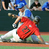 Globe/Roger Nomer<br /> Nevada's Josh Samuelson tags Joplin's Conor Smith for the out at third base during Tuesday's game.