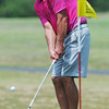Globe/Roger Nomer<br /> Paul Ashe, Baxter Springs, chips onto the green at Schifferdecker Golf Course on Saturday.