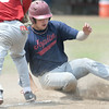 Joplin's xx xxx (29) slides safely into third base after hitting a triple against Webb City  during their game on Friday at Carl Junction.<br /> Globe | Laurie Sisk
