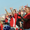 Globe/Roger Nomer<br /> Webb City fans cheer a home run during the 9-10-year-old Little League State Championships on Monday at Sunny Jim Field.