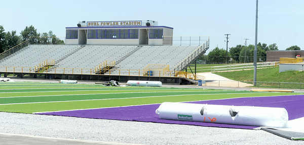 Improvements continue, including a new playing surface, to Burl Fowler Stadium in Monett.<br /> Globe | Laurie Sisk