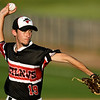 Outlaws starter Christian Lilly throws from the mound during Joplin's game against Cassville on Tuesday night at Joe Becker Stadium.<br /> Globe | Laurie Sisk