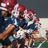 Globe/Roger Nomer<br /> Joplin High players run through drills on Monday at Joplin High School.
