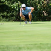 Jordan Burks lines his shot from the green during the final round of the Joplin Area Golf Championships at Briarbrook Golf Course in Carl Junction.<br /> Globe Israel Perez